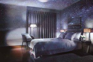 プラネタリウムのある寝室