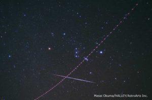 光害の少ない大島で流星を観察
